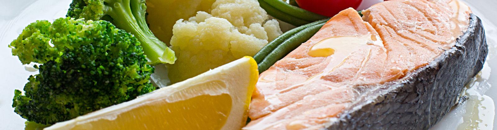 le saumon poche